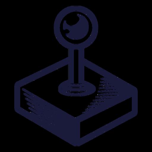 Old school joystick illustration Transparent PNG