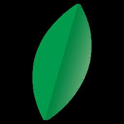 Ícone de folha oval