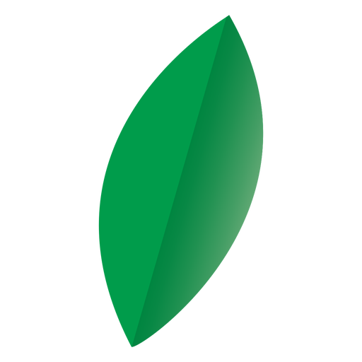 Icono de naturaleza de hoja ovalada