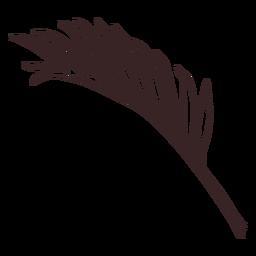 Desenho de linha de ramo de palmeira