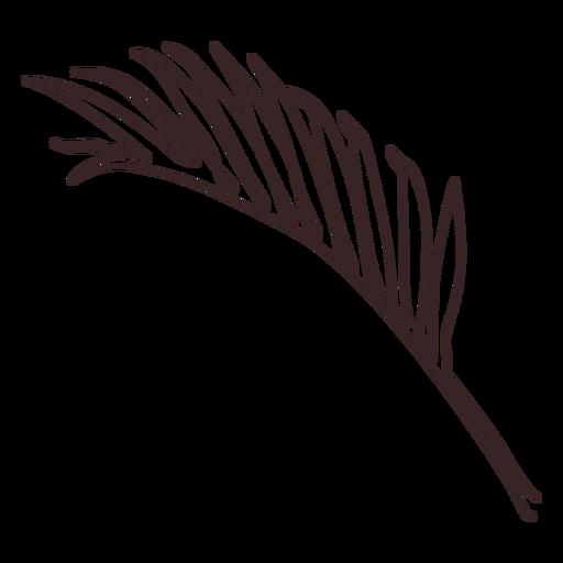 Dibujo lineal de rama de palma