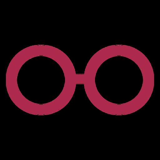Part glasses simple design Transparent PNG