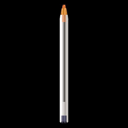 Pen without cap realistic design Transparent PNG