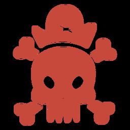 Pirate skull flat design