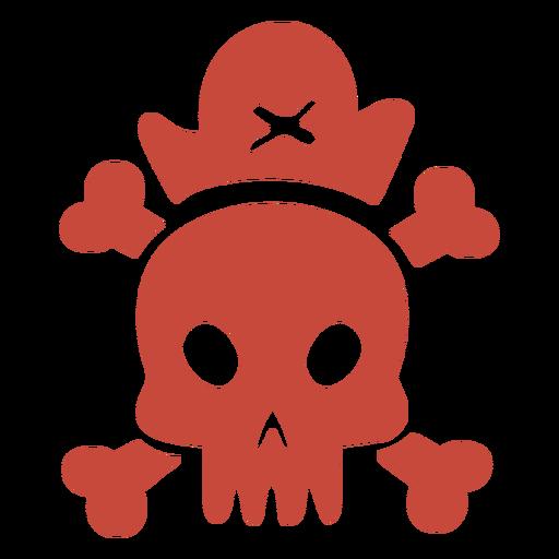 Diseño plano de calavera pirata