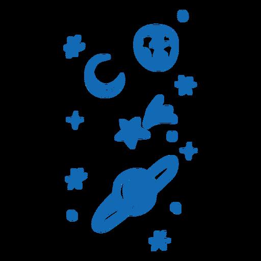 Planetas y estrellas planas