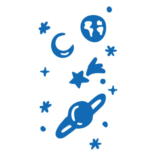 Planets and stars flat