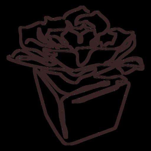 Plant pot line drawing stroke