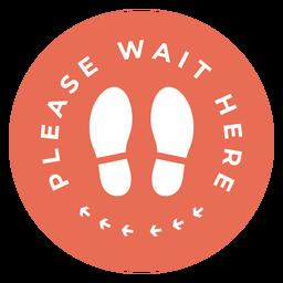 Por favor espere aquí firmar