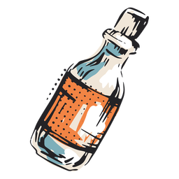 Poison bottle illustration