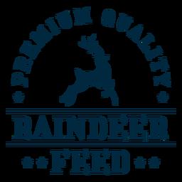 Citação de decoração de feed Raindeer