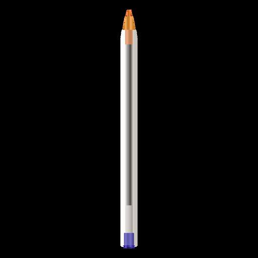 Realistic pen design without cap Transparent PNG