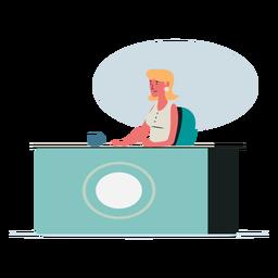 Ilustración de personaje de mujer recepcionista