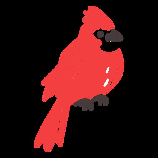 Doodle de p?jaro volador de cresta roja