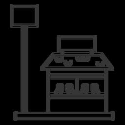 Edificio del restaurante y trazo de señal