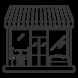 Trazo de fachada de restaurante