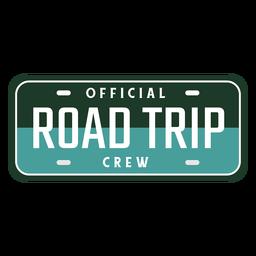 Projeto da placa do carro da tripulação da viagem de estrada