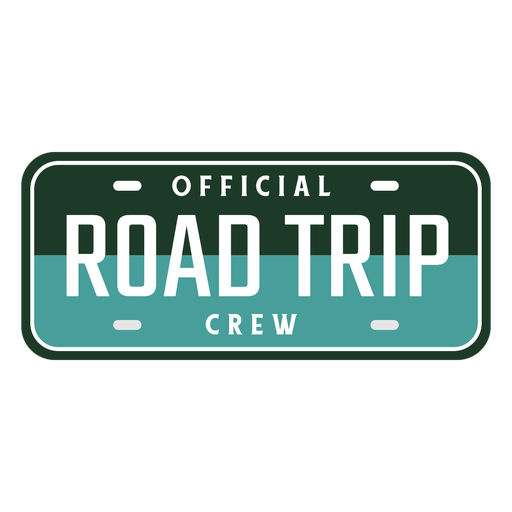 Road trip crew car board design Transparent PNG