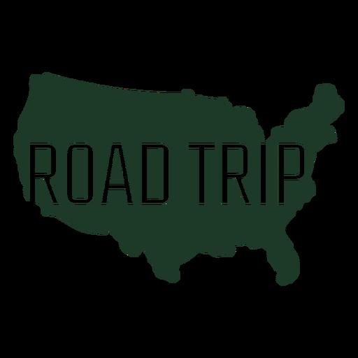 Mapa de geografía de viaje por carretera