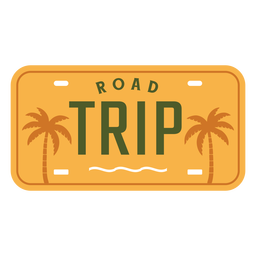 Road trip lettering palms design