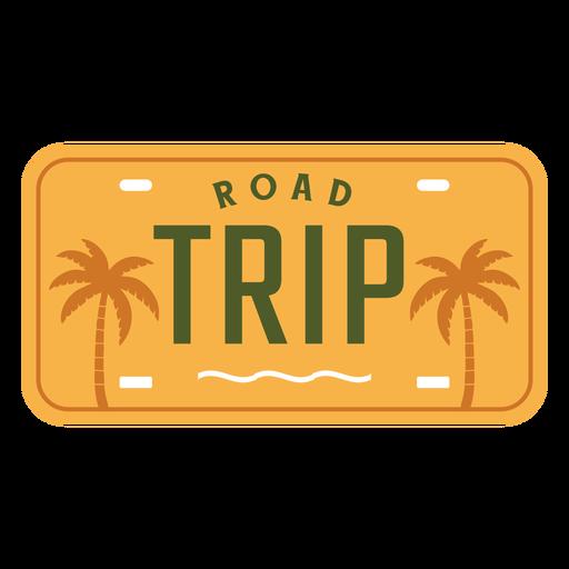 Road trip lettering palms design Transparent PNG