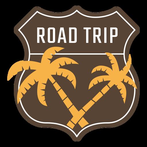 Marco vintage de viaje por carretera