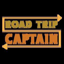 Letras do capitão da viagem de carro
