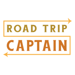Road trip captain lettering