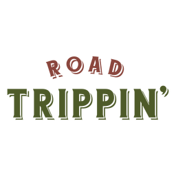 Road trippin lettering