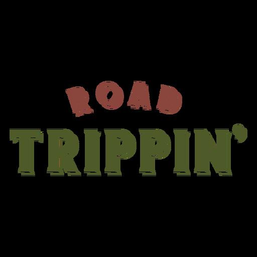 Letras de viaje trippin Transparent PNG
