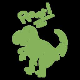 Roar t rex dinosaur flat