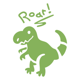 Roar t rex dinosaurio plano