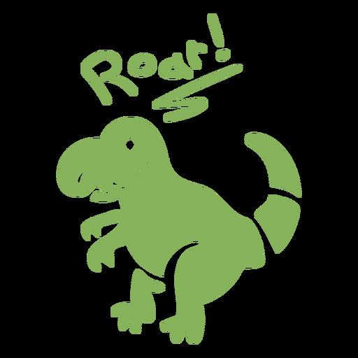 Roar t Rex Dinosaurier flach
