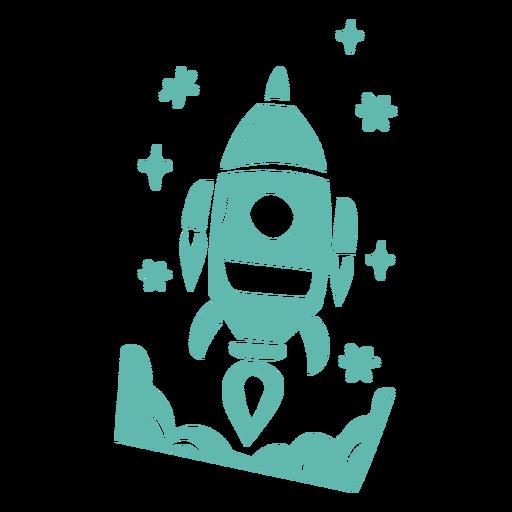Diseño de cohetes estilo doodle