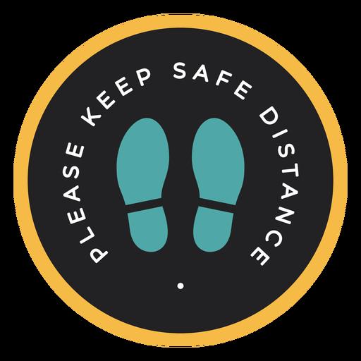 Advertencia de distancia segura Transparent PNG