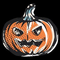 Ilustración de calabaza de halloween de miedo