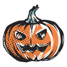 Scary hallloween pumpkin illustration