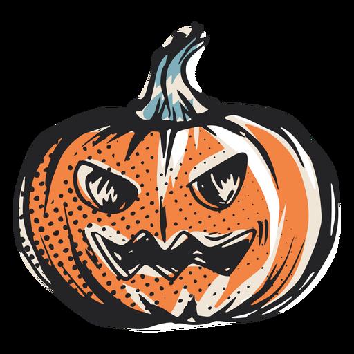 Ilustração de abóbora assustadora de Halloween
