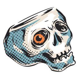 Scary halloween skull illustration