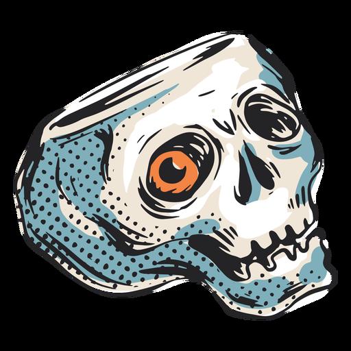 Ilustração assustadora do crânio de halloween