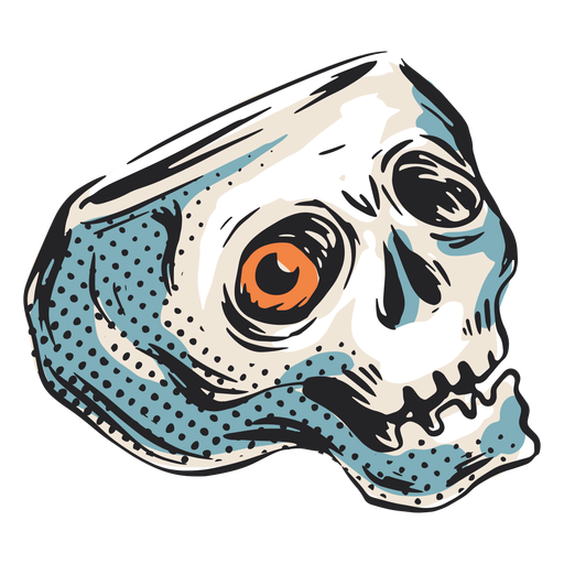 Ilustración de calavera de halloween de miedo