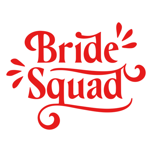 Citação do esquadrão de noivas com serifa