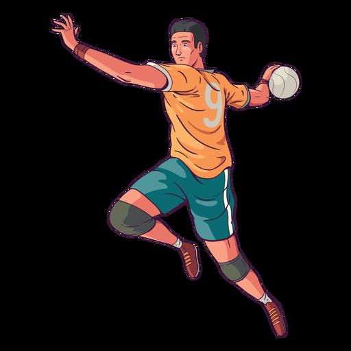 Ilustración de jugador de balonmano de vista lateral Transparent PNG