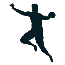 Side view handball player silhouette