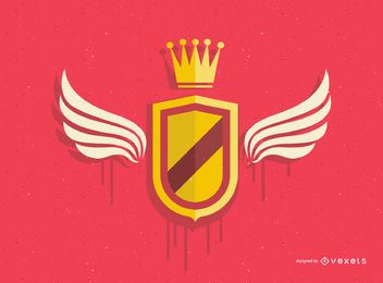 Escudo de ouro retrô