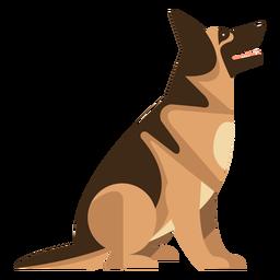 Sentado perro pastor alemán