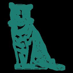 Diseño de tigre sentado