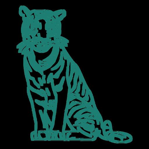Sitting tiger design