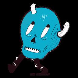 Skull on foot character