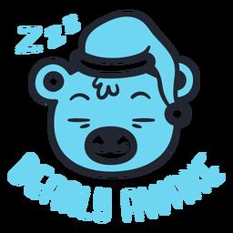 Diseño de cabeza de oso soñoliento